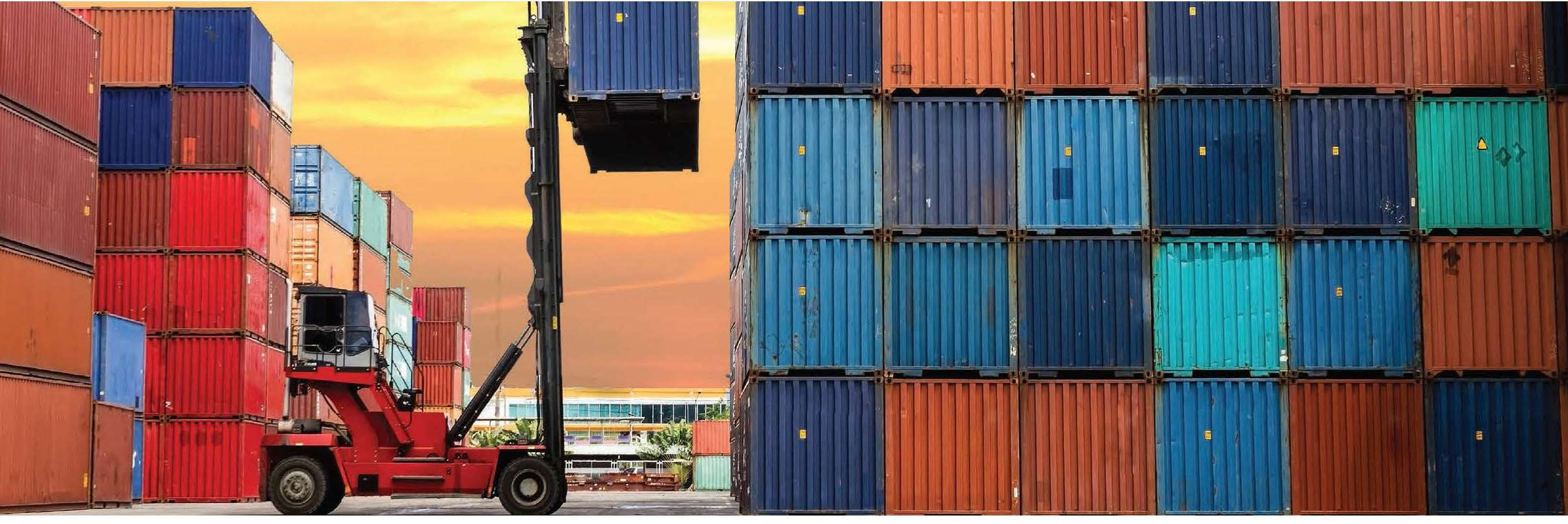 Forklift and containers image
